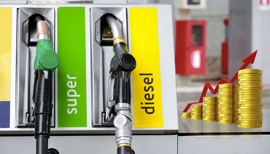 Viscosità dei prezzi, benzina e petrolio