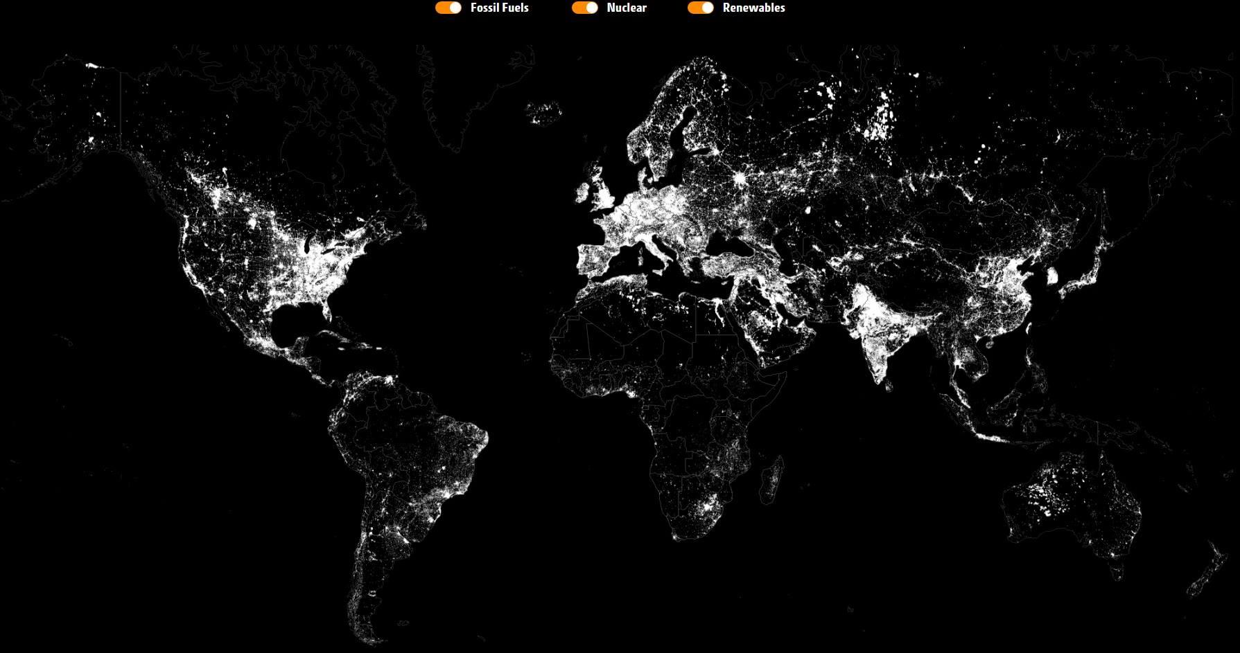 Cartina Mondiale Interattiva.Energia E Pianeta Mappa Interattiva Illuminata