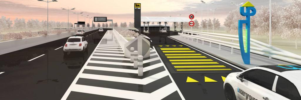 LYBRA, auto, dosso, strade, energia, cinetica, traffico, elettricità, città, innovazione, tecnologia
