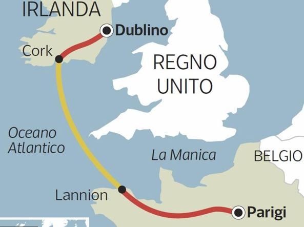 celtic interconnector, irlanda, francia, brexit, collegamento, elettrico, dati, fibra ottica, 2050, UE, mercato elettrico, elettricià, sistema, rete, UK, RTE, Eirgrid, HVDC