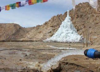ice stupa, ghiacciai, artificiali, Ladakh,