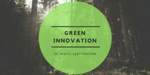 Green innovation: un'analisi sperimentale