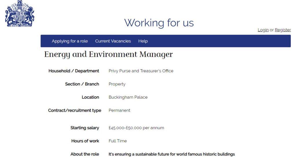 energy manager, inghilterra, uk, regina, elisabetta, palazzi, reali, buckingham palace, gestione, risparmio, costi