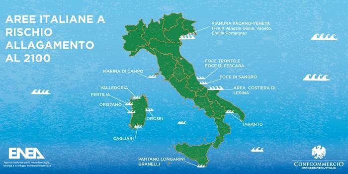 ENEA, Italia, Confcommercio, convegno, Roma, inondazioni, riscaldamento globale, spiaggia, Mediterraneo, mare, Global Warming, alluvione, meteo, pioggia, rischio, costa, Energy Close-up Engineering