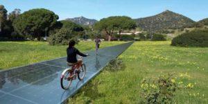 La prima pista ciclopedonale solare d'Italia
