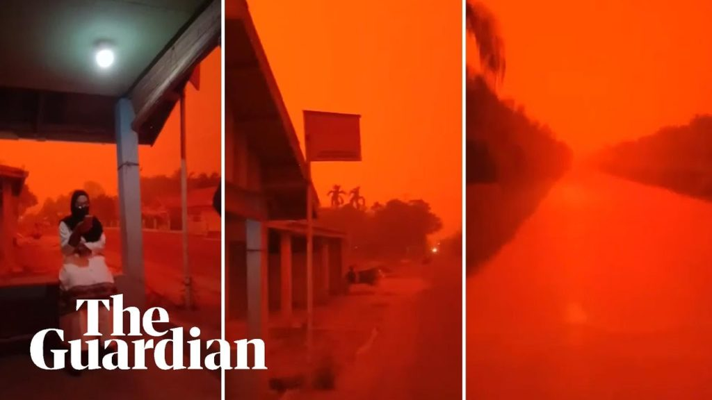 Jambi, Indonesia, inquinamento, incendi, cielo rosso, apocalisse, post-apocalittico, fantascienza, Marte, Pianeta rosso, scattering, Rayleigh, Mie, ambiente, PM10, diffusione, luce, cieli, Energy Close-up Engineering