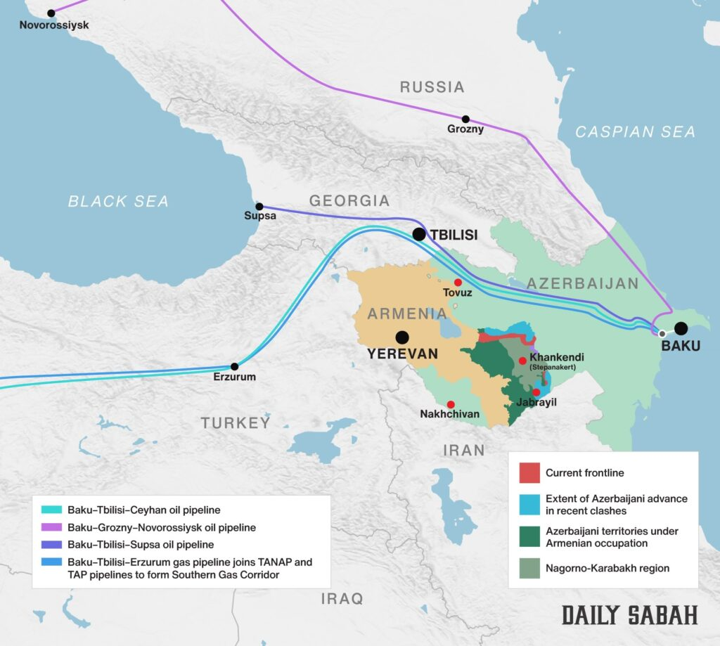 Nagorno-Karabakh, Azerbaigian, Armenia, Turchia, Russia, gas, gasdotto, guerra, conflitto, TAP, fossili, approvvigionamento, Energy Close-up Engineering