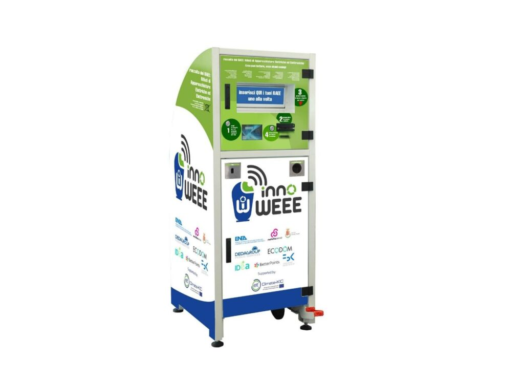 Smart bin, enea, smaltimento, riciclo, rifiuti, elettrico, elettronico, raccolta differenziata, incentivo, progetto, Italia, Europa, economia circolare, sostenibilità, ambiente, inquinamento, aria, suolo, acqua, Energy Close-up Engineering