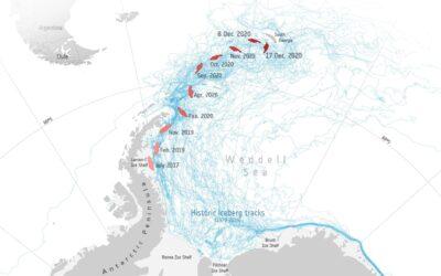 L'ultimo grido dell'Iceberg A-68: il ruolo dei ghiacciai.